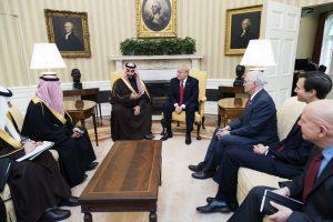 מוחמד בן סלמאן ודונלד טראמפ. צילום: הבית הלבן
