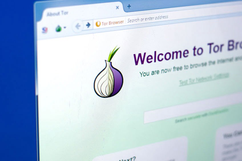 Ryazan, Russia - March 28, 2018 - Tor browser on a display of PC with logo in a form of onion