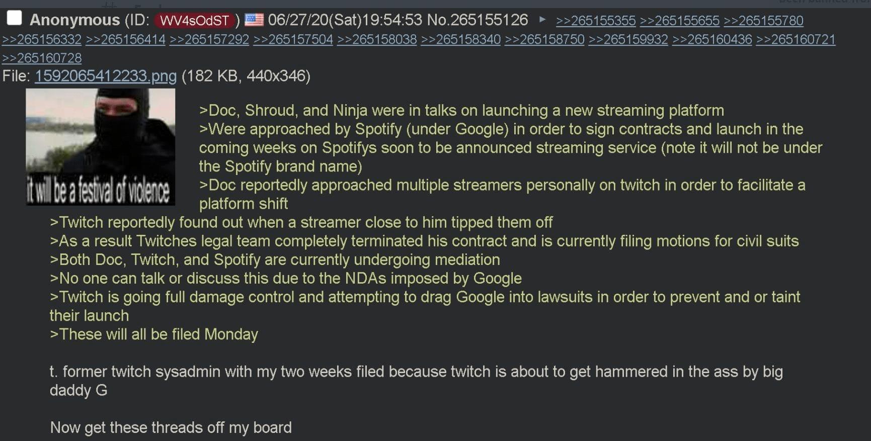 ההודעה מתוך 4chan. בדיחה או מציאות?