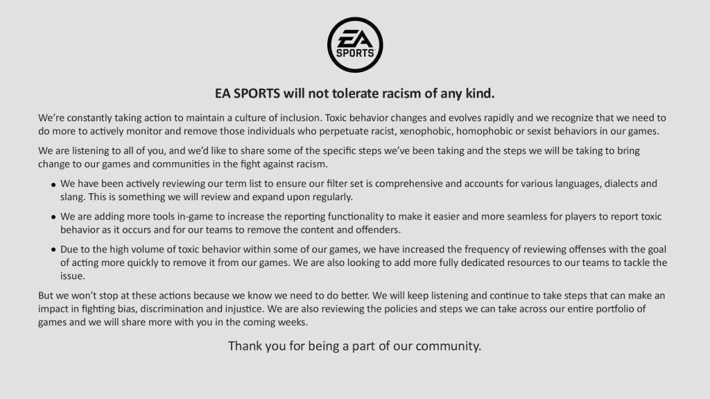 הודעת EA Sports