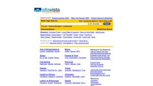 altavista. פעם מנוע החיפוש הפופולרי בעולם