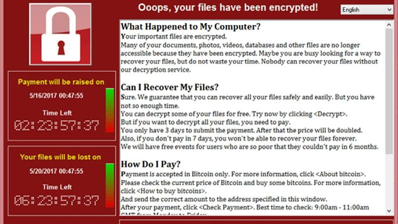 ransomware - wannacry