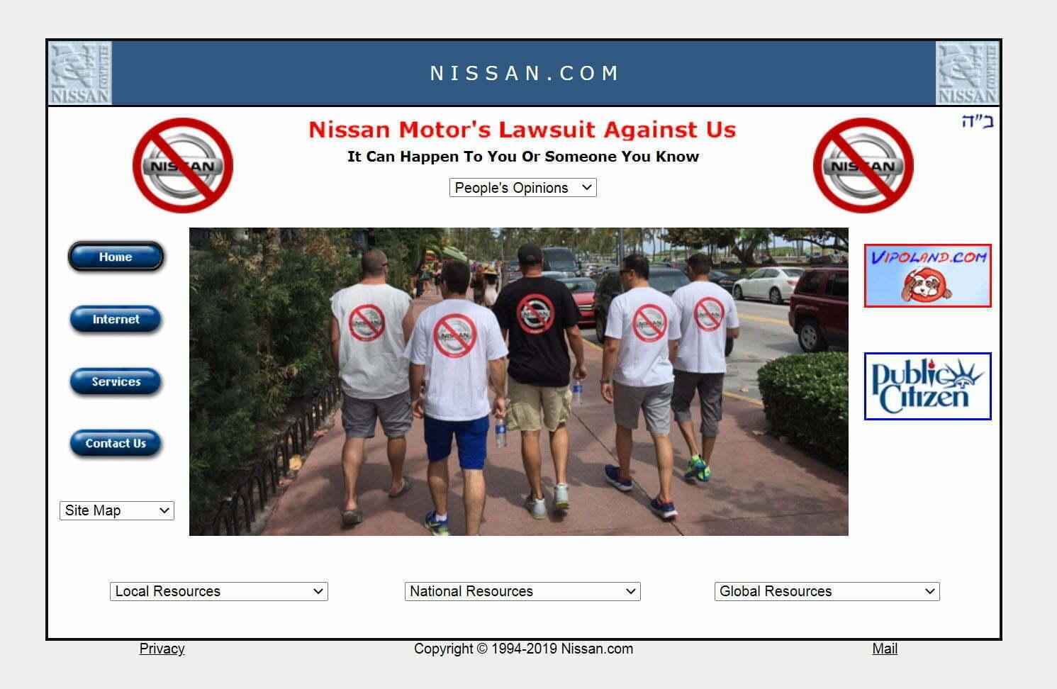 אתר האינטרנט של עוזי ניסן, Nissan.com