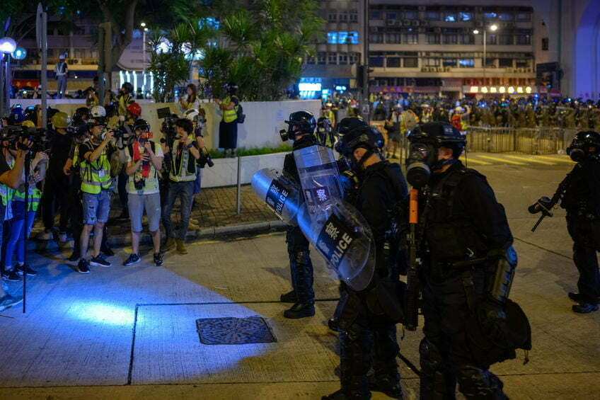 הונג קונג מהומות והפגנות.