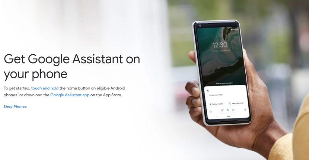 google assistant (צילומסך: אתר האפליקציה)