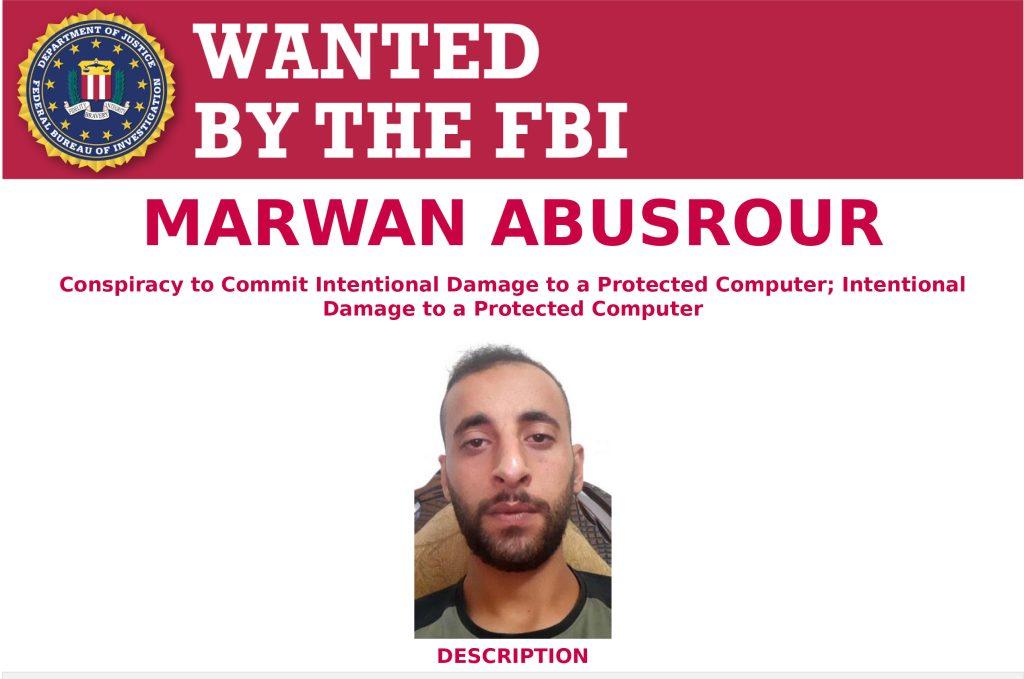 מבוקש על ידי ה-FBI, מרואן אבוסרור