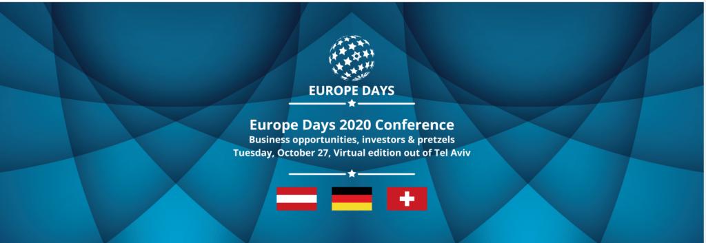 צילום מסך מתוך האתר של כנס Europe Days 2020